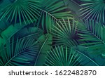 tropical leaves. layout of... | Shutterstock .eps vector #1622482870