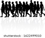 group of people. crowd of... | Shutterstock . vector #1622499010