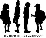 children black silhouettes.... | Shutterstock . vector #1622500099