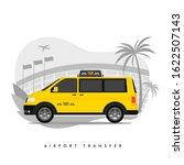 shuttle services flat vector...   Shutterstock .eps vector #1622507143