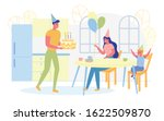 happy parents giving birthday...   Shutterstock .eps vector #1622509870