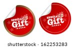 special gift stickers | Shutterstock .eps vector #162253283