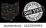 Bright Mesh Ohio State Map Wit...
