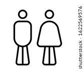 men and women restroom icon ... | Shutterstock .eps vector #1622569576