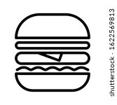 burger hamburger logo icon... | Shutterstock .eps vector #1622569813