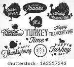 collection of thanksgiving... | Shutterstock .eps vector #162257243