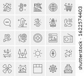 25 universal icons vector... | Shutterstock .eps vector #1622574403