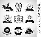 beer labels set   isolated on... | Shutterstock .eps vector #162258134