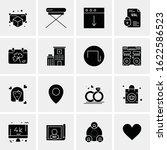 business icon set. 16 universal ... | Shutterstock .eps vector #1622586523