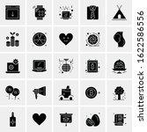 25 universal icons vector... | Shutterstock .eps vector #1622586556