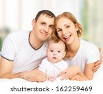 happy family of father  mother... | Shutterstock . vector #162259469