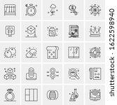25 universal icons vector... | Shutterstock .eps vector #1622598940