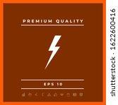 thunderstorm lightning icon....   Shutterstock .eps vector #1622600416