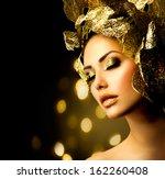 fashion glamour makeup. beauty... | Shutterstock . vector #162260408