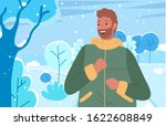 male spending weekends outdoors ... | Shutterstock .eps vector #1622608849