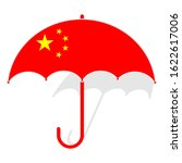 China Flag Umbrella. Weather...