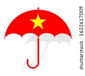 Vietnam Flag Umbrella. Social...