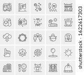 25 universal icons vector... | Shutterstock .eps vector #1622617303
