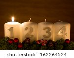 advent candles in a row on a... | Shutterstock . vector #162264524