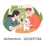 veterinarian doctor examining a ... | Shutterstock .eps vector #1622657266