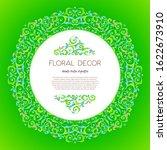 vector green frame  border ... | Shutterstock .eps vector #1622673910