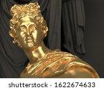 gold sculpture from 3d...   Shutterstock . vector #1622674633