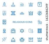 editable 22 religious icons for ...   Shutterstock .eps vector #1622686249