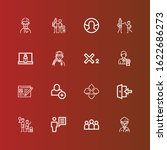 editable 16 member icons for... | Shutterstock .eps vector #1622686273