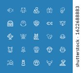 editable 25 wildlife icons for... | Shutterstock .eps vector #1622688883