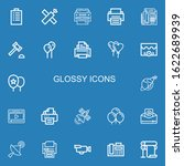 editable 22 glossy icons for... | Shutterstock .eps vector #1622689939