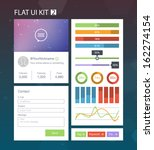 flat user interface kit for web ...