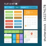 flat user interface kit for web ...