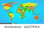 political world map on ocean...   Shutterstock .eps vector #162279314