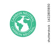 carbon neutral label vector icon   Shutterstock .eps vector #1622805850