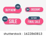 set of sale tags or banners.... | Shutterstock .eps vector #1622860813