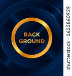 music party poster. rounded... | Shutterstock .eps vector #1622860939