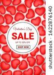 valentines day sale background... | Shutterstock . vector #1622876140