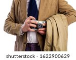 retro paparazzi in a suit and... | Shutterstock . vector #1622900629