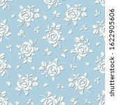 vector seamless blue and white... | Shutterstock .eps vector #1622905606