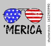 patriotic merica sunglasses ... | Shutterstock .eps vector #1622905990