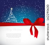 greeting cards with red bows... | Shutterstock .eps vector #162290630