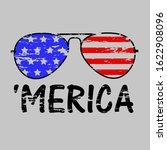 patriotic merica sunglasses ... | Shutterstock .eps vector #1622908096