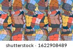 stained glass texture  abstract ... | Shutterstock .eps vector #1622908489