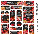 butchery shop tags and labels.... | Shutterstock .eps vector #1622981200