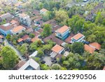 ubud city aerial view to street ... | Shutterstock . vector #1622990506