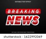 breaking news text effect... | Shutterstock .eps vector #1622992069
