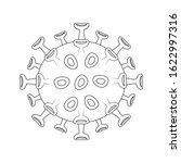 sars virus cell vector...   Shutterstock .eps vector #1622997316