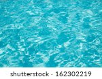 blue pool water with sun... | Shutterstock . vector #162302219
