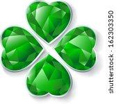 resumen,brillante,tarjeta,encanto,trébol,día,decorativos,diamante,esmeralda,floral,cuatro,brillo,resplandeciente,resplandor,verde