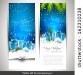 Set Of Two Vertical Christmas...